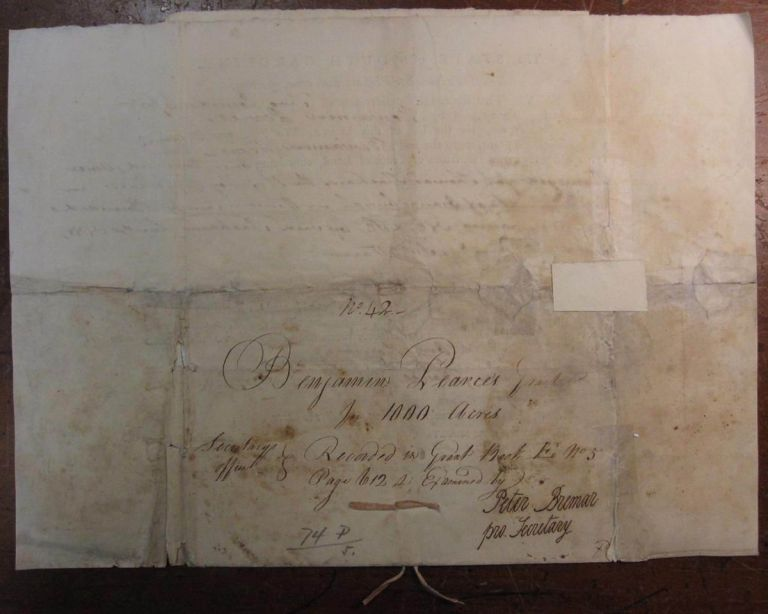 Autographed Partly Printed Document Signed. William MOULTRIE, 1730 - 1805.