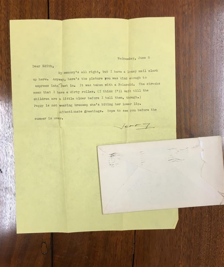 "Typed Letter, signed ""Jerry"" to Edith Oliver at the New Yorker Magazine. J. D. SALINGER."