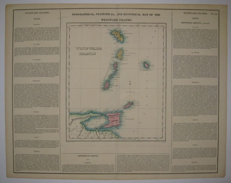Geographical, Statistical, and Historical Map of the Windward Islands. CAREY, LEA.