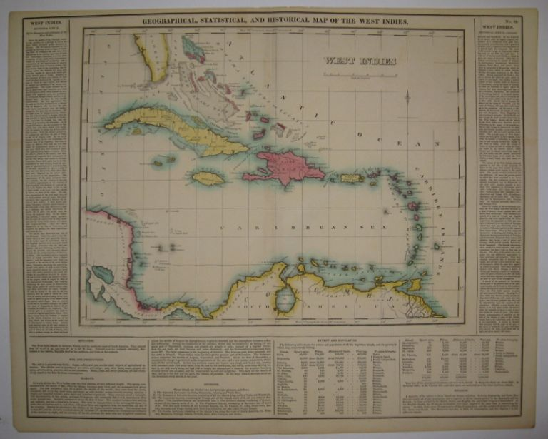 Geographical, Statistical, and Historical Map of the West Indies. CAREY, LEA.