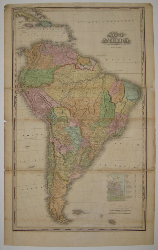 South America with Improvements to 1823. H. S. TANNER.