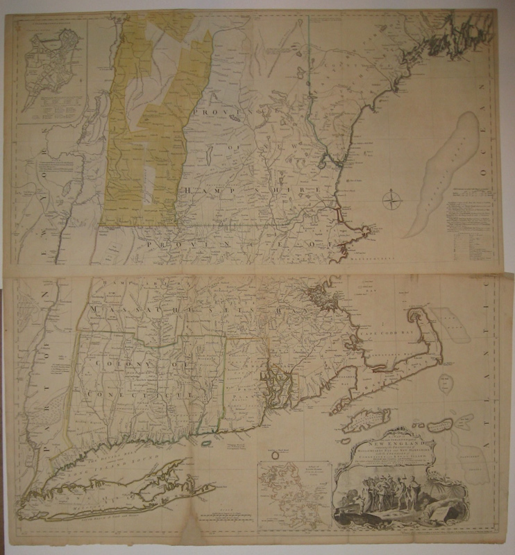A Map of the most Inhabited part of New England, containing the Provinces of Massachusets Bay and New Hampshire, with the Colonies of Conecticut and Rhode Island. Divided into Counties and Townships: The whole composed from Actual Surveys and its Situation adjusted by Astronomical Observations. Braddock MEAD, Thomas JEFFERYS.
