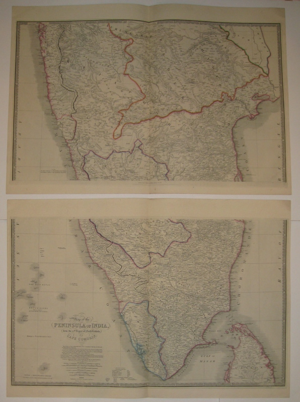 Map of the Peninsula of India, from the 19th Degree of North Latitude to Cape Comorin. James WYLD.