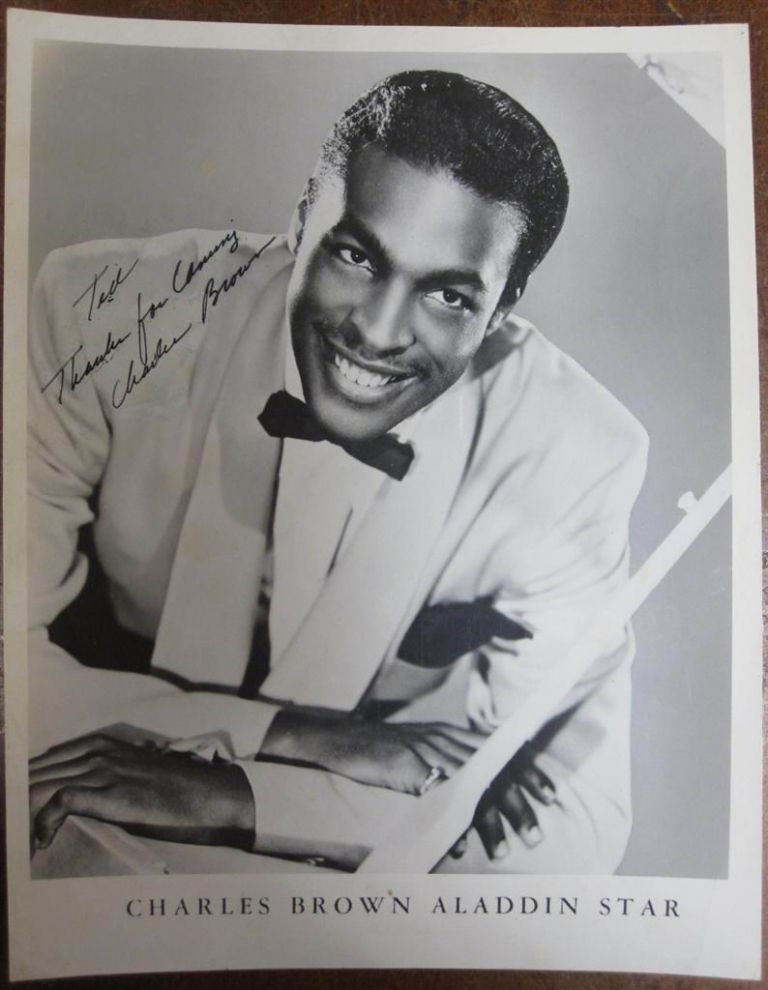 Signed Photograph. Charles BROWN, 1922 - 1999.