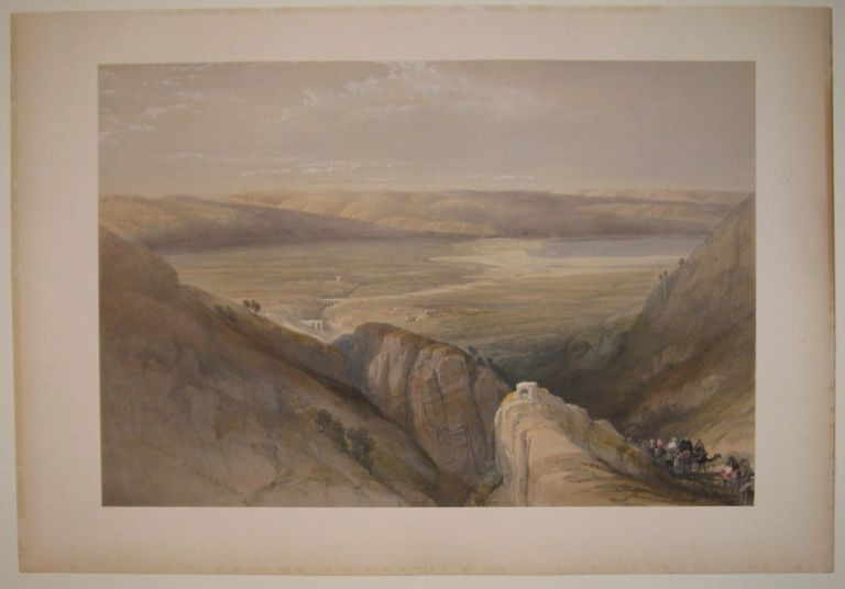 Descent upon the Valley of the Jordan. David ROBERTS.