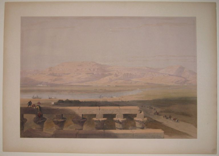 Lybian Chain of Mountains, from the Temple of Luxor. David ROBERTS.