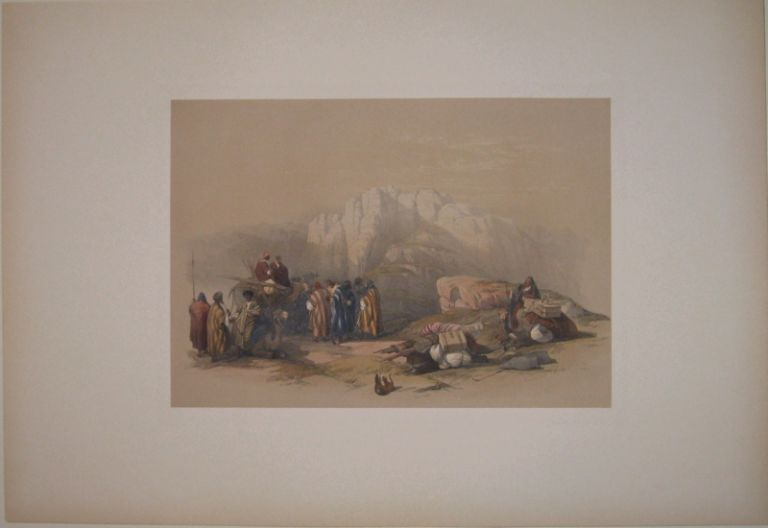 Tomb of Aaron, Summitt of Mount Hor March 11th 1839. David ROBERTS.