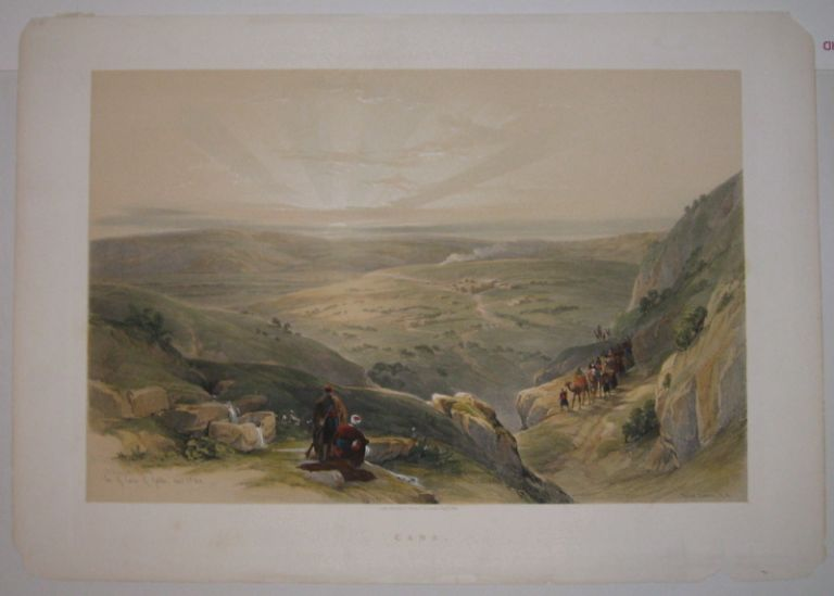 Site of Cana of Galilee, April 21st, 1839. David ROBERTS.