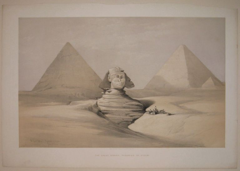 The Great Sphinx, Pyramids of Gizeh. July 17th 1839. David ROBERTS.