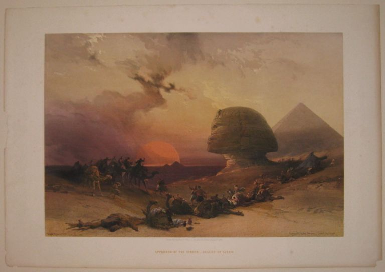 Approach of the Simoon_Desert of Gizeh. David ROBERTS.