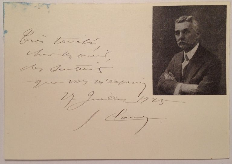 Signed Card. Georges CLAUDE, 1870 - 1960.
