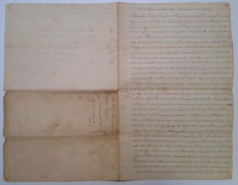 Signed Document regarding the purchase of land from a Revolutionary War veteran. Peter HUGHES.