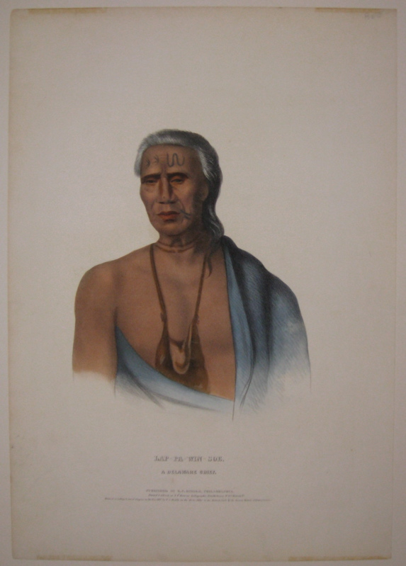 Lap-Pa-Win-Soe: A Delaware Chief. Thomas L. MCKENNEY, James HALL.