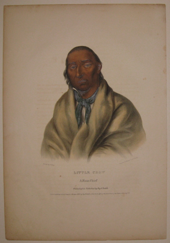 Little Crow: A Sioux Chief. Thomas L. MCKENNEY, James HALL.