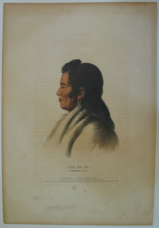Sha-Ha-Ka: A Mandan Chief. Thomas L. MCKENNEY, James HALL.