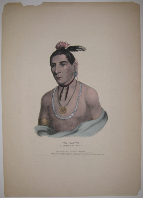 Wa-Kawn, A Winnebago Chief. Thomas L. MCKENNEY, James HALL.