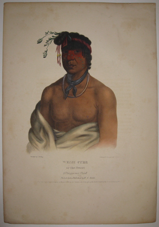 Wesh Cubb or the Sweet: A Chippeway Chief. Thomas L. MCKENNEY, James HALL.