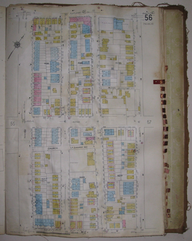 Vol. 17 of 29 Atlases of Insurance Maps for Brooklyn. Canarsie. SANBORN MAP COMPANY.