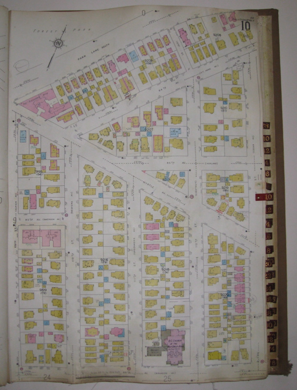 Vol. 4 of 29 Atlases of Insurance Maps for Queens. Woodhaven and Richmond Hill. SANBORN MAP COMPANY.