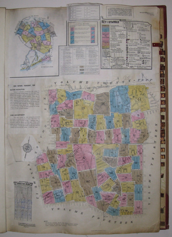 Vol. 7 of 29 Atlases of Insurance Maps for Queens. Hollis & Jamaica Estates. SANBORN MAP COMPANY.