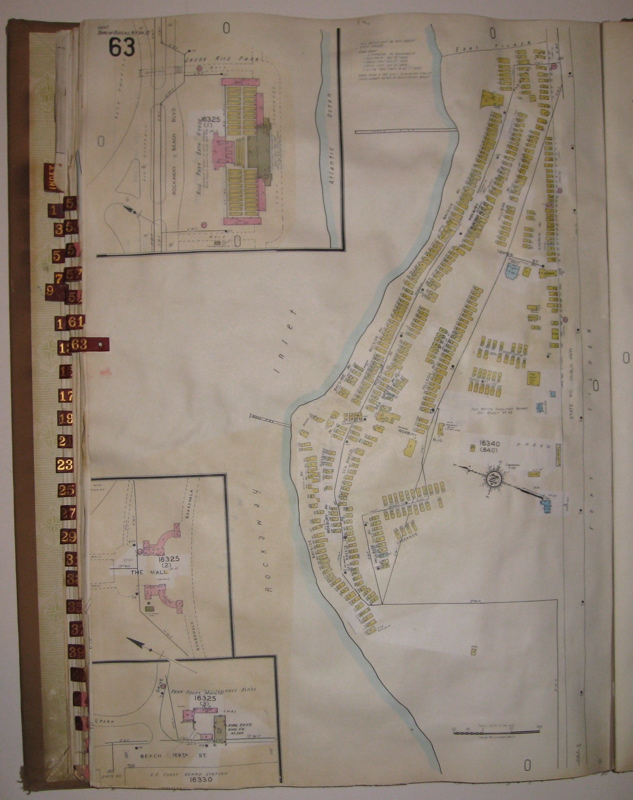 Vol. 21 of 29 Atlases of Insurance Maps for Queens. Rockaway Peninsula & Broad Channel. SANBORN MAP COMPANY.