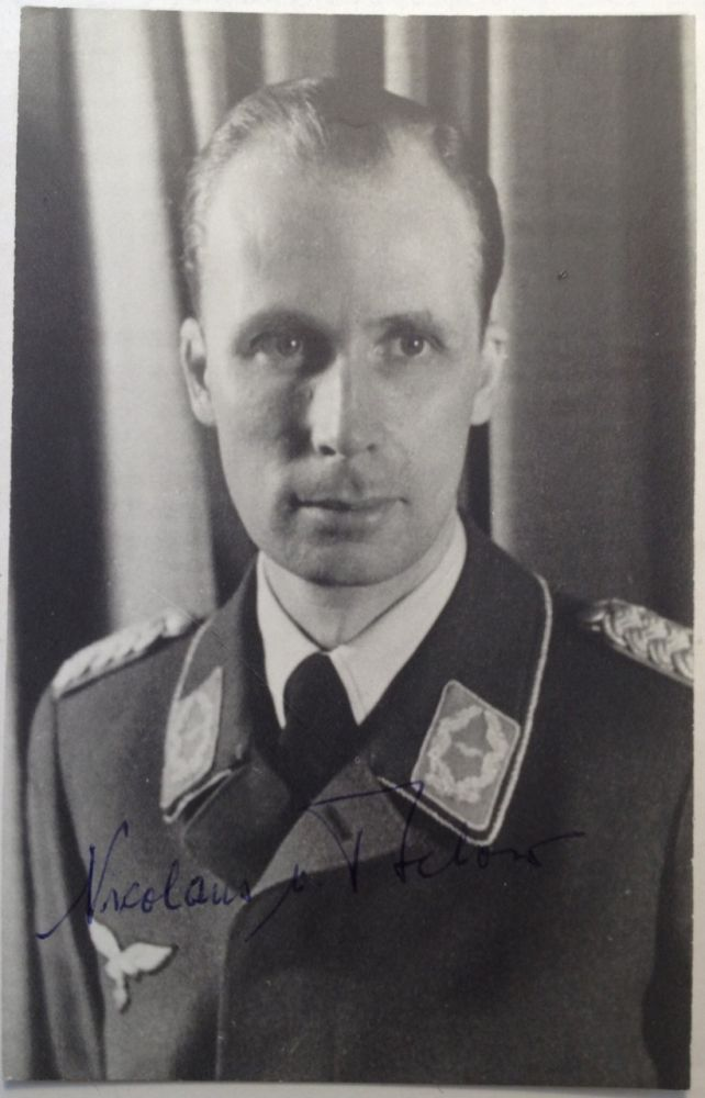 Signed Photograph. Nicklaus VON BULOW, 1907 - 1983.
