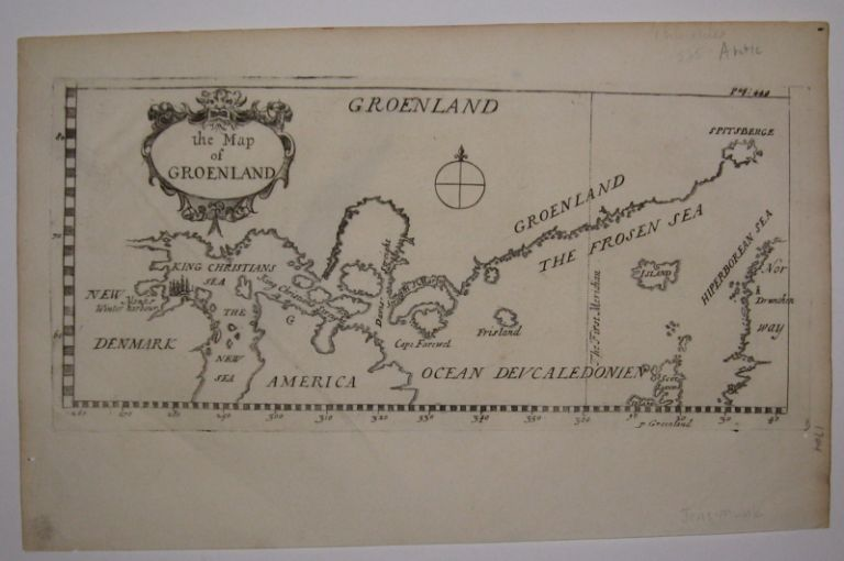 the Map of Groenland. John and Awnsham CHURCHILL.