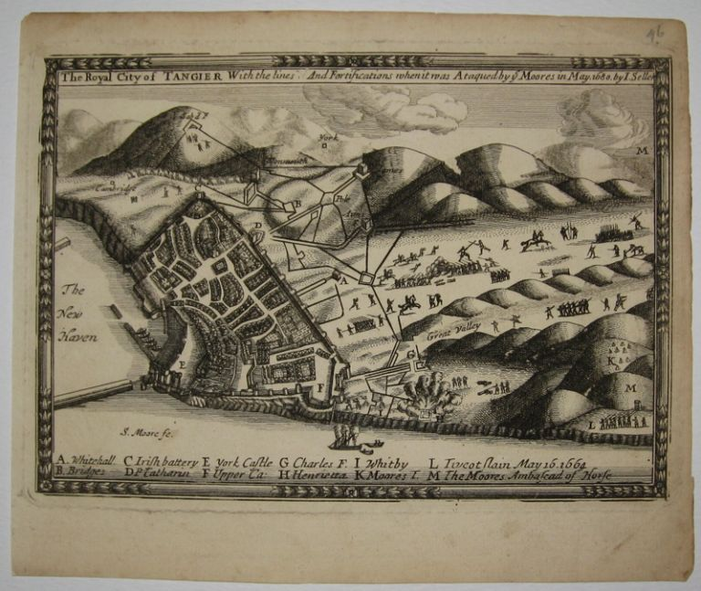 The Royal City of Tangier With the lines And Fortifications when it was Ataqued by the Moores in May 1680. John SELLER.