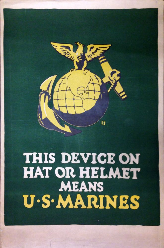 This Device on Hat or Helmet Means U.S. Marines. Charles Buckles FALLS.