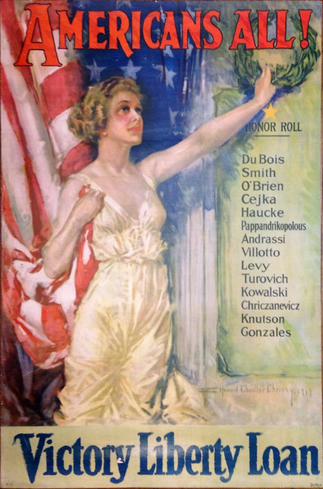 Americans All! Victory Liberty Loan. Howard Chandler CHRISTY.