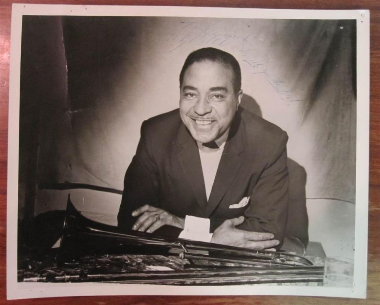 """Signed Photograph. William """"Dicky"""" WELLS, 1907 - 1985."""