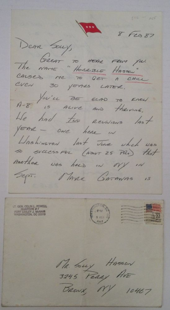 Autographed Letter Signed. Colin POWELL, 1937 -.