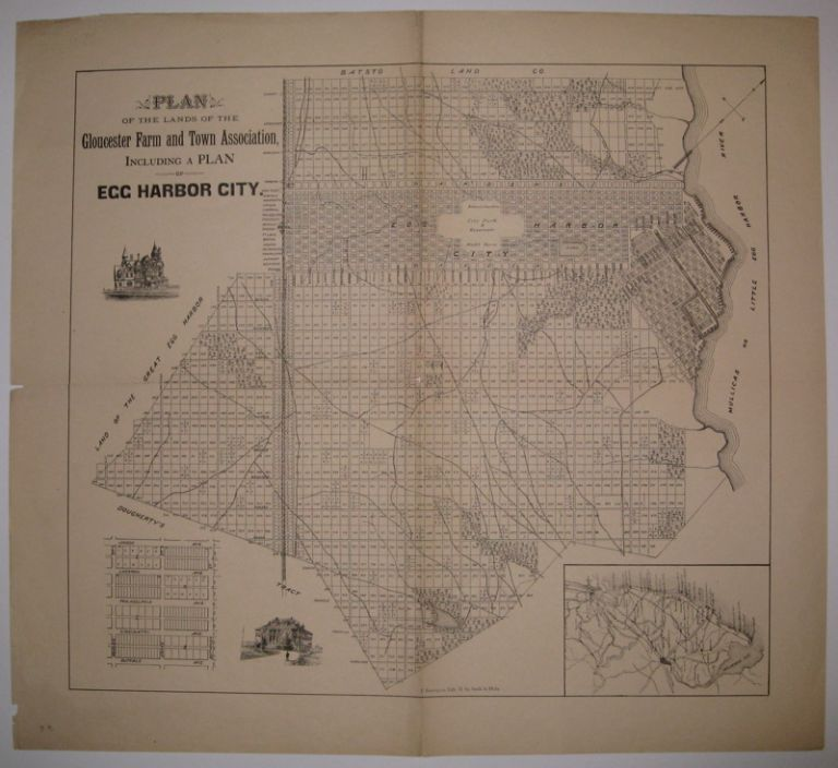 Plan of the Lands of the Gloucester Farm and Town Association, including a Plan of Egg Harbor City. UNKNOWN.