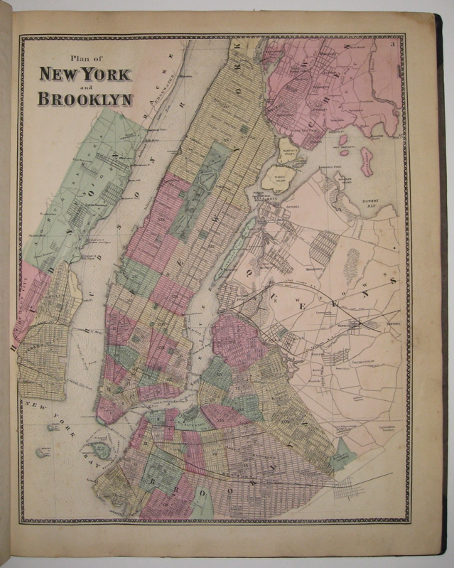 Atlas of New York and Vicinity. Frederick W. BEERS.