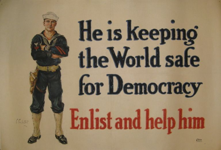 He is Keeping the World safe for Democracy: Enlist and help him. Clifford CARLETON.