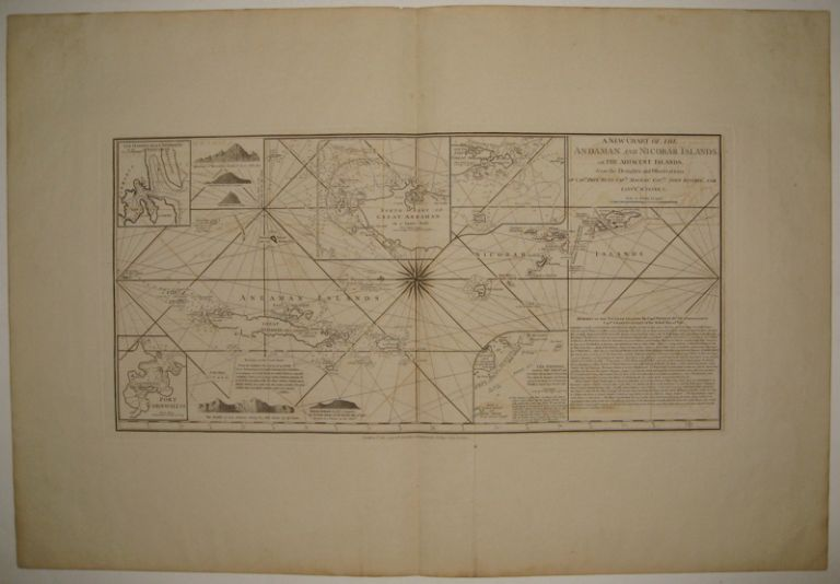 A New Chart of the Andaman and Nicobar Islands, with the Adjacent Islands. LAURIE, WHITTLE.