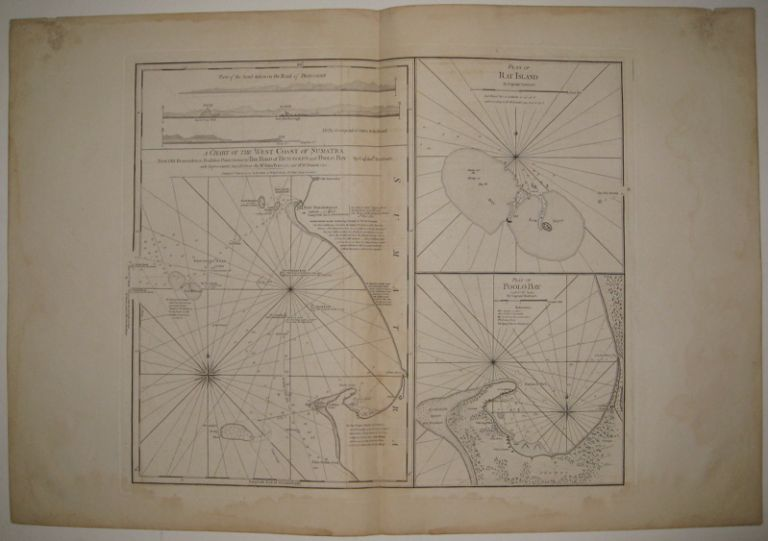 A Chart of the West Coast of Sumatra from Old Bencoolen to Buffaloe Point containing the Road of Bencoolen and Poolo Bay. LAURIE, WHITTLE.