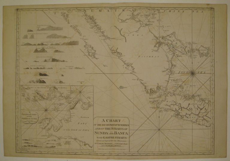 A Chart of the South Part of Sumatra and of the Straits of Sunda and Banca with Gaspar Straits. LAURIE, WHITTLE.