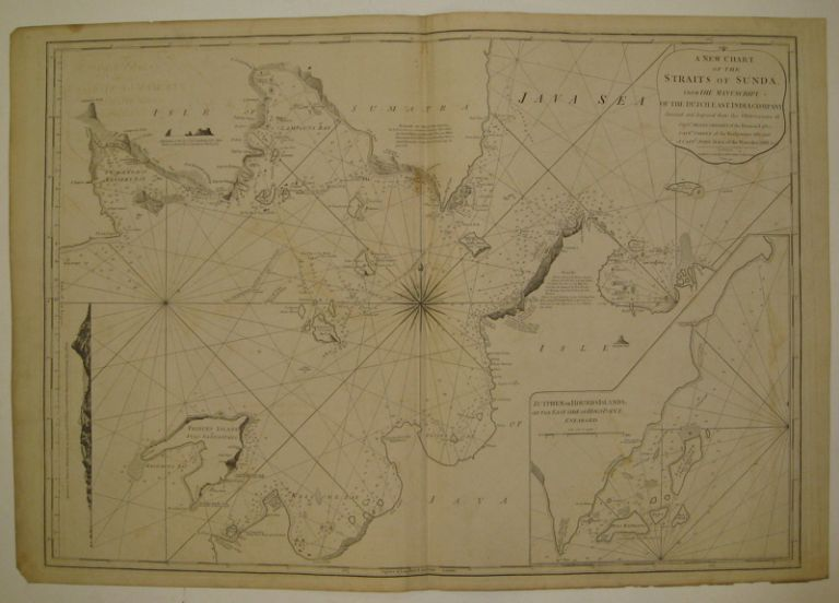 A New Chart of the Straits of Sunda, from the Manuscript of the Dutch East India Company. LAURIE, WHITTLE.