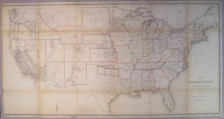 Map of the United States and Territories. Shewing the extent of Public Surveys and other details constructed from the Plats and official sources of the General Land Office. Jos. S. WILSON.