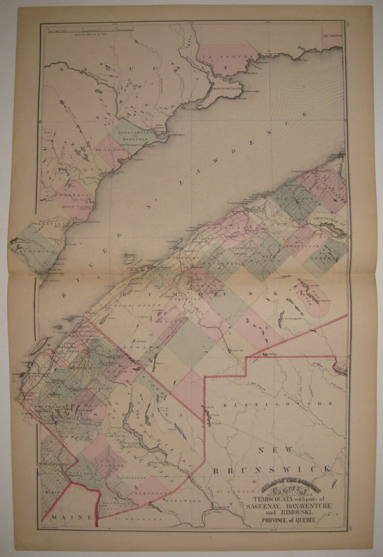 Atlas of the Dominion County of Temiscouata with parts of Saguenay, Bonaventure and Rimouski. Province of Quebec. H. F. WALLING.