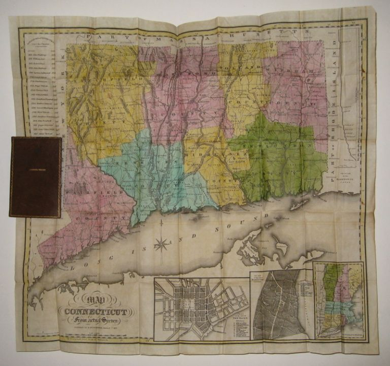 Map of Connecticut from actual survey. Eleazor HUNTINGTON.