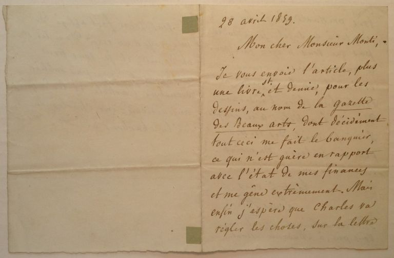 Autographed Letter Signed in French. Louis BLANC, 1811 - 1882.