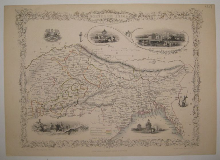 Northern India including the Presidency of Calcutta. John TALLIS.