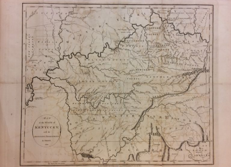 Map of the State of Kentucky; with the Adjoining Territories. John RUSSELL.