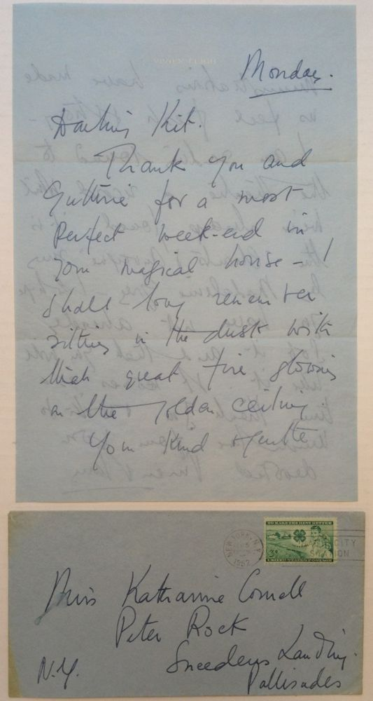 Autographed Letter Signed to Katherine Cornell. Vivien LEIGH, 1913 - 1967.