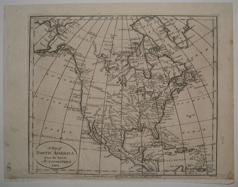 A Map of North America from the Latest Authorities 1802. John PAYNE.
