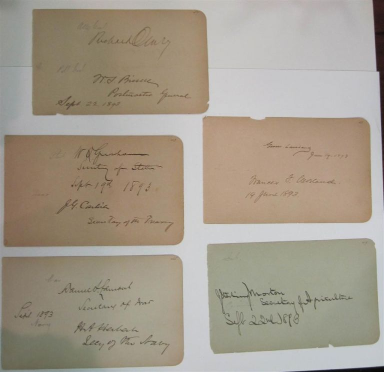 Signatures of The Clevelands and the Entire Cabinet. Grover CLEVELAND, 1837 - 1908.