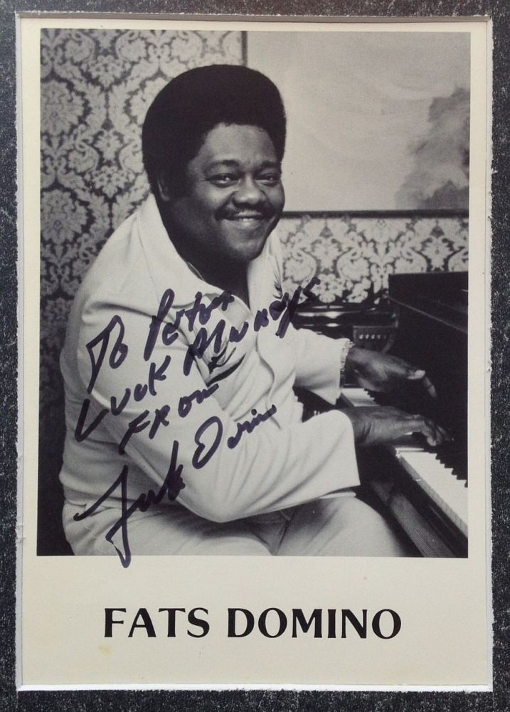 Inscribed Photograph. Fats DOMINO, 1928 -.