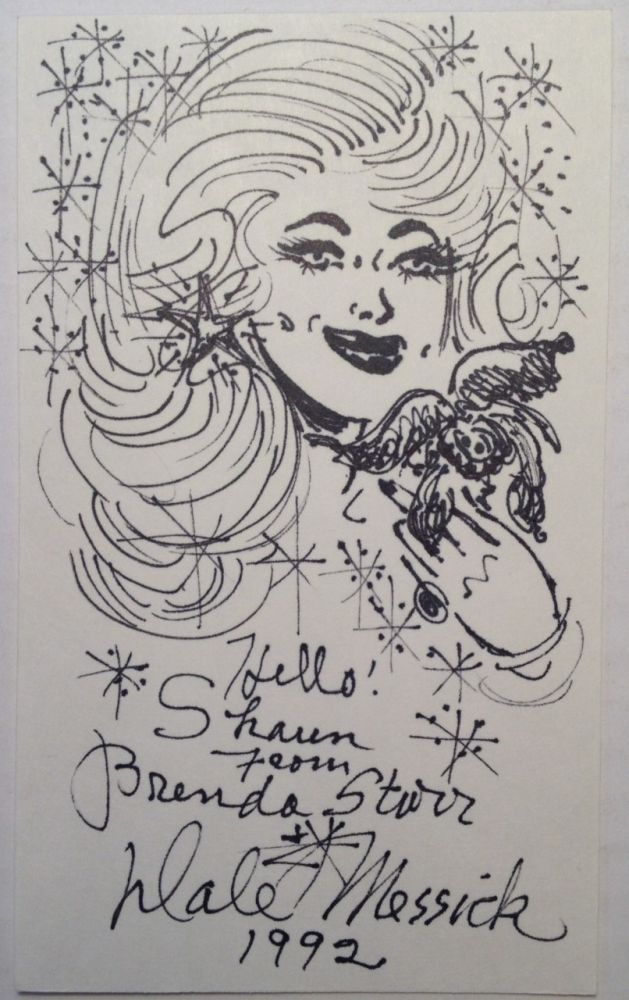 Original Pen-and-Ink Drawing of Brenda Starr. Dale MESSICK, 1906 - 2005.